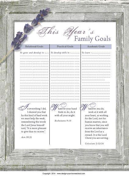 Homeschool Planner page
