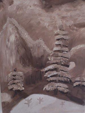 talitha monochromatic painting