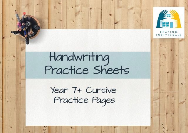 Cursive Years 7+ Handwriting Practice Sheets from www.design-your-homeschool.com