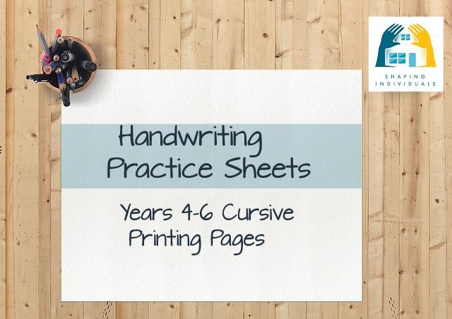 Cursive 4-6 Handwriting Practice Sheets from www.design-your-homeschool.com