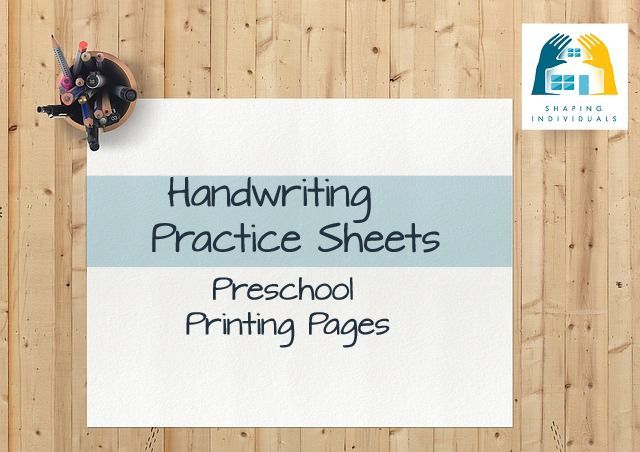 Manuscript Preschool Handwriting Practice Sheets from www.design-your-homeschool.com