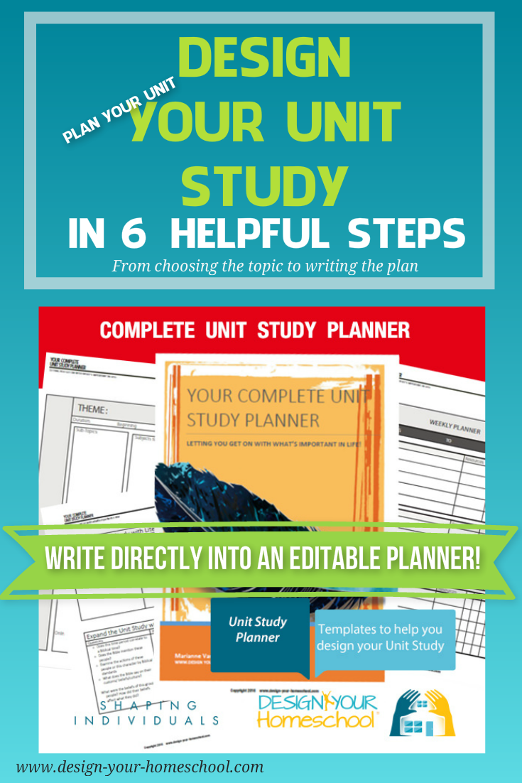 Design your homeschool unit study