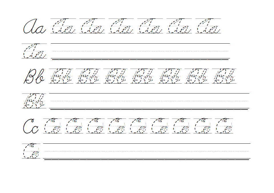 capital cursive letters worksheet