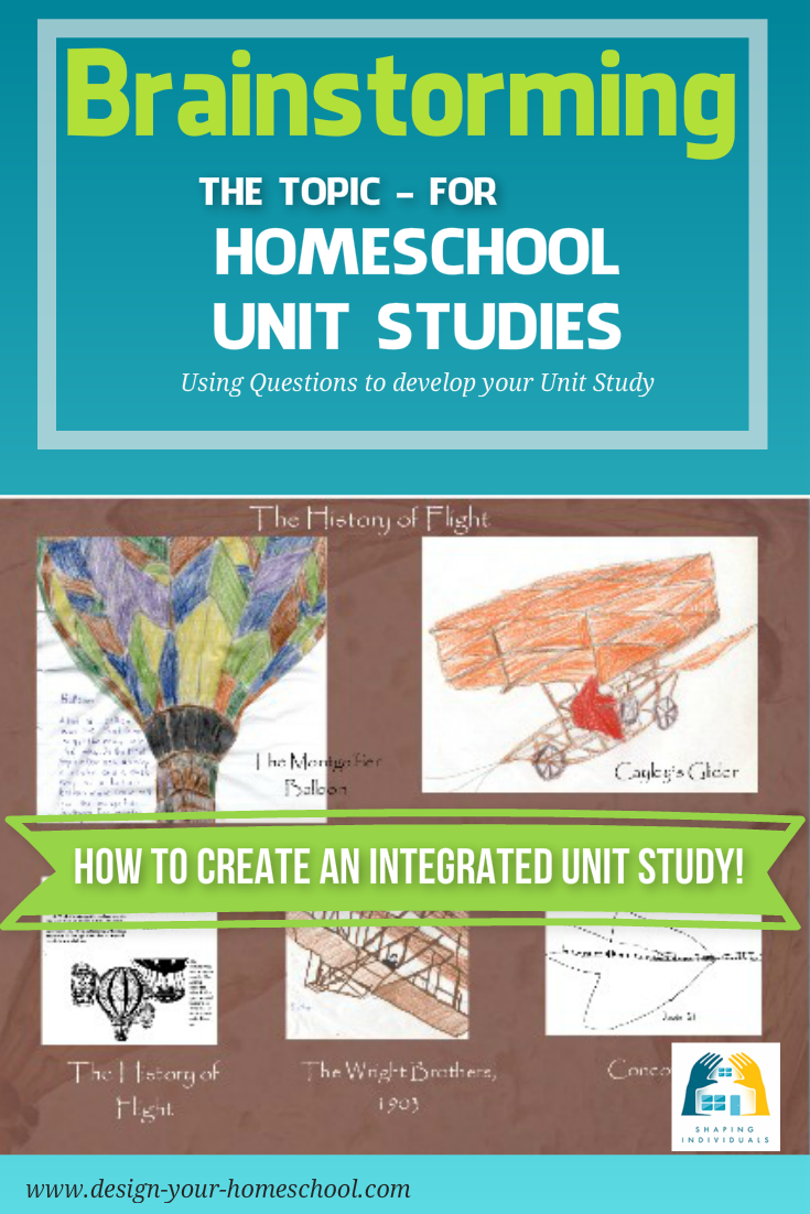 Helpful questions to brainstorm the homeschool unit study