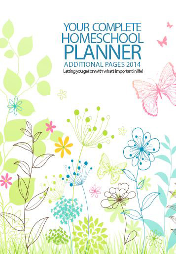 DIY Homeschool Planner