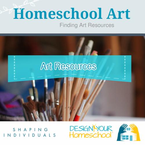 Homeschool Art Resources - what to buy