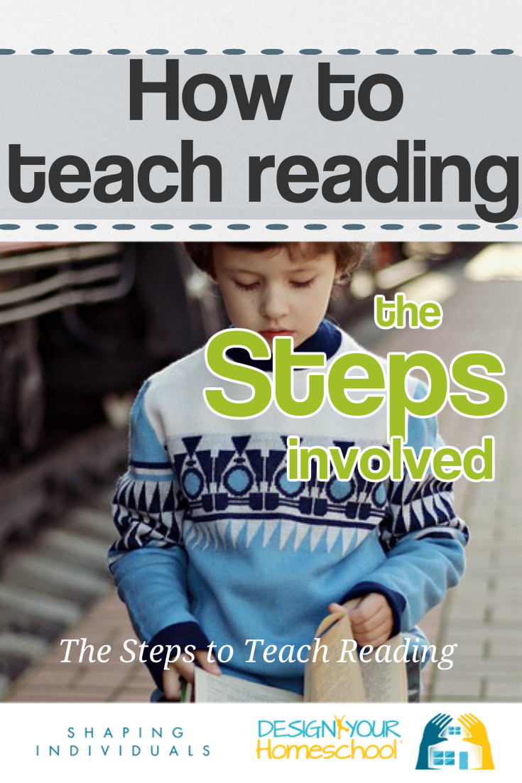 How to teach reading in your homeschool - the steps involved in the reading process