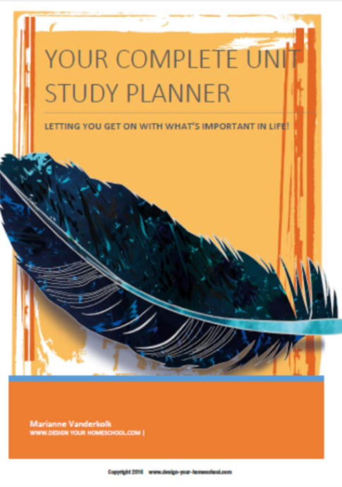 Complete Unit Study Planner www.design-your-homeschool.com