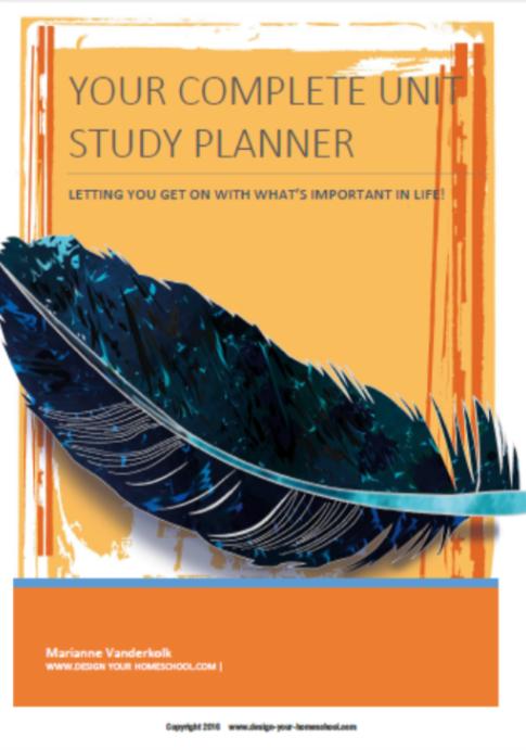 Homeschool Unit Study Editable Planner