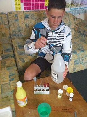 Testing Acids and Bases Science Experiment