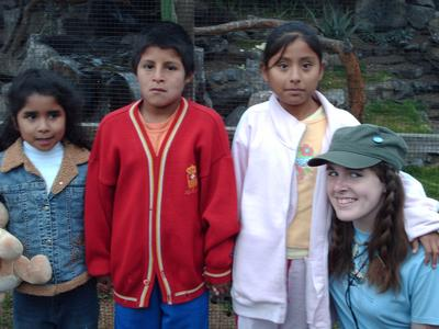 Here I am, meeting three kids sponsored through Compassion International while I am in Peru. The youngest girl is my  family's sponsor child,  the other two I am meeting for friends.
