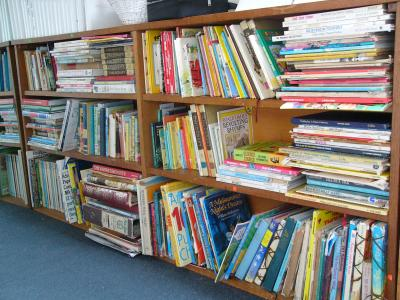 Bookshelves as a booklist for each child