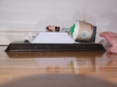My hovercraft - side view
