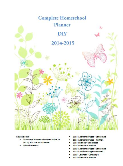 2014-2015 Homeschool Planner