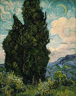 cypresses by van gogh to teach elements of art