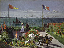garden at sainte adresse Monet