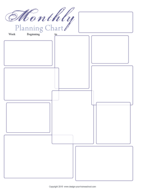 keep on track homeschool planner monthly planning page