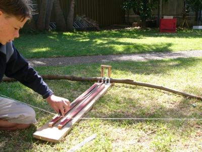 Getting the ballista ready to shoot