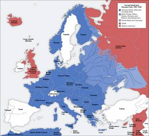Land Hitler Conquered (in blue)