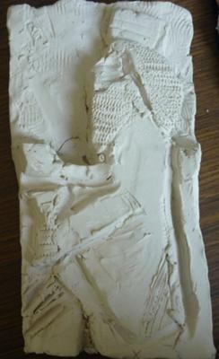 My clay model of an Assyrian/Babylonian King.