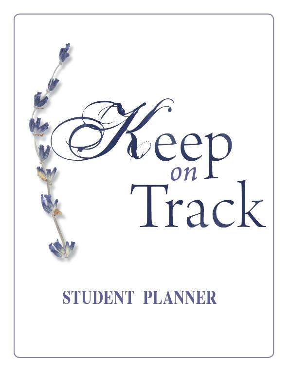Keep on Track Homeschool Student Planner