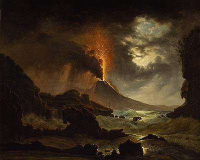 Mt Versuvius erupting