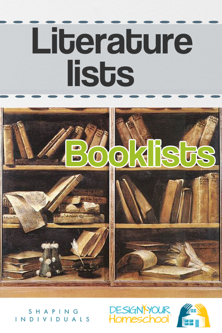 Homeschool Literature Lists for reading to children