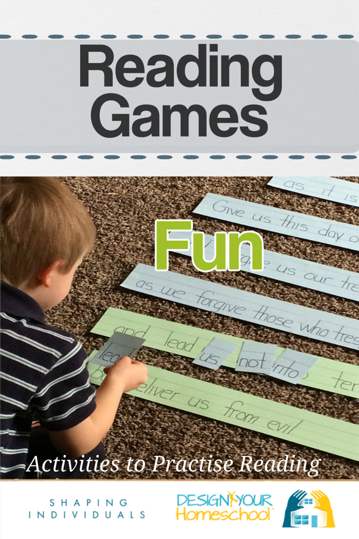 Fun Reading Games for Kids - Teaching reading in your homeschool with activities