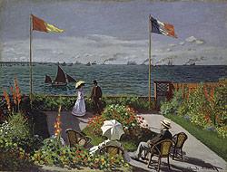 garden at sainte adresse Monet